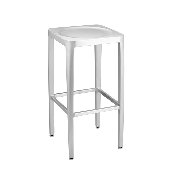 Exceptionnel ... Outdoor Brushed Bar Height Stool